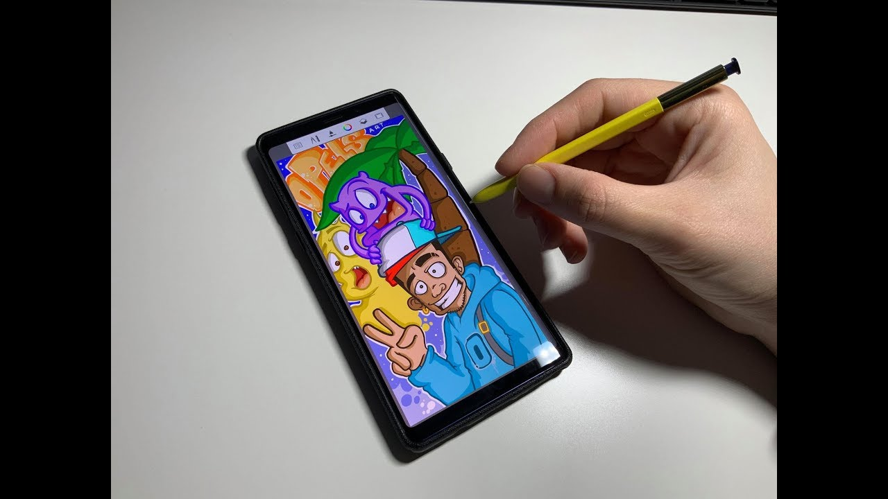 Samsung Note 9 Doodles and Graffiti Character in Autodesk Sketchbook