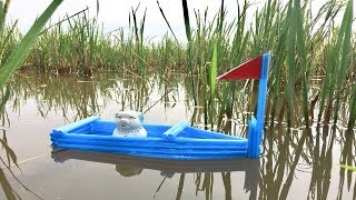 How to make boat from straws | DIY Toy for Kids (Easy & Quick)| HMC Art