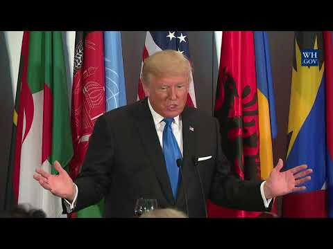 President Trump Attends a Luncheon Hosted by the Secretary General of the United Nations