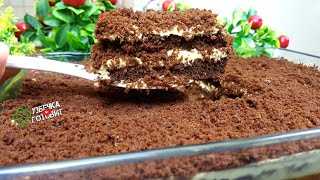 Это десерт можно есть губами Готовится очень просто и быстро Быстрый торт к чаю УЗБЕЧКА ГОТОВИТ