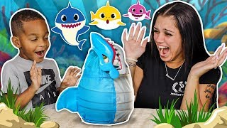 BABY SHARK BITE FAMILY FUN GAMES WITH DJ