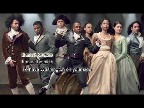 Washington On Your Side (Karaoke with Lyrics) from Hamilton