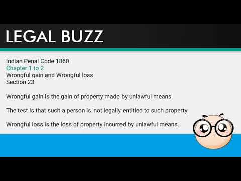 Wrongful gain and wrongful loss section 23 of IPC 1860
