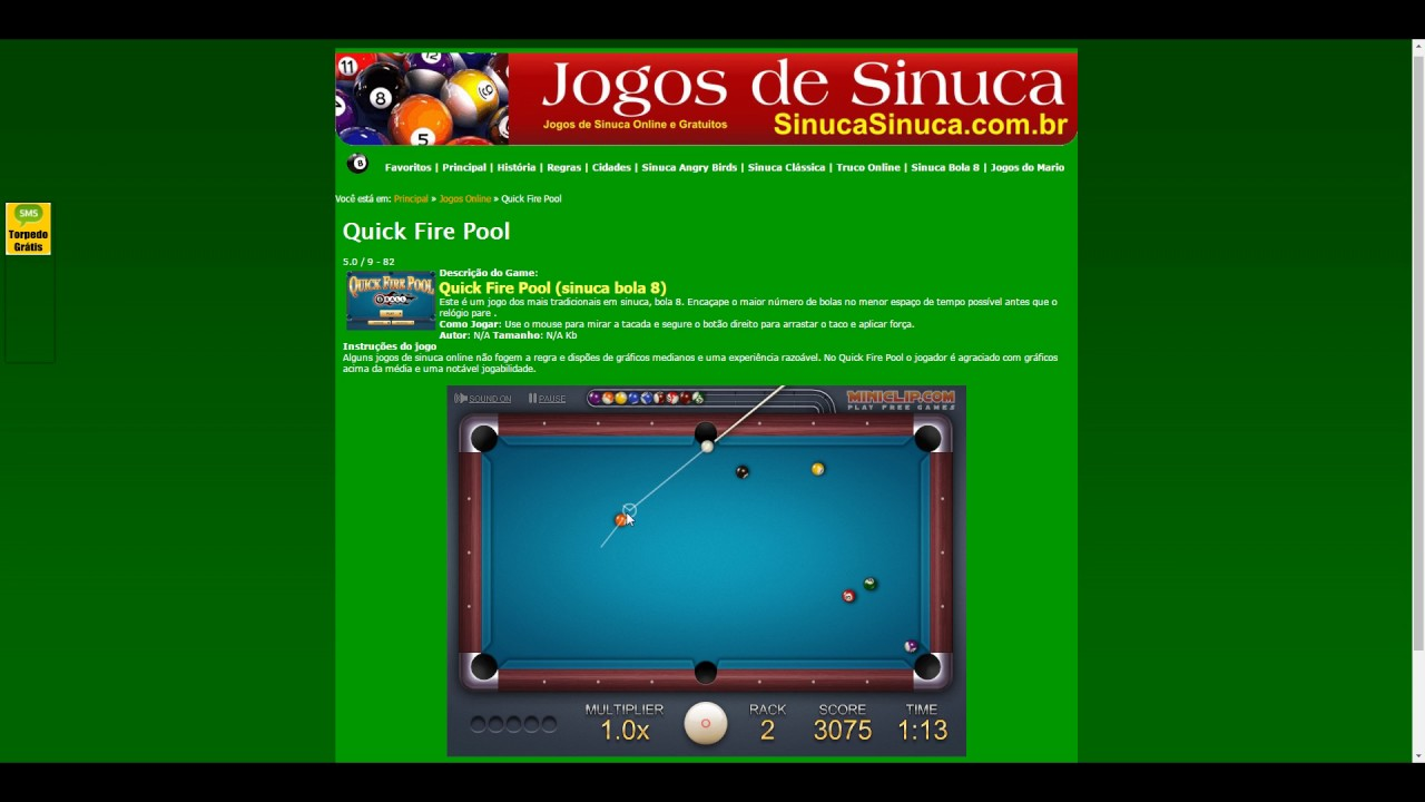 Jogo online sinuca