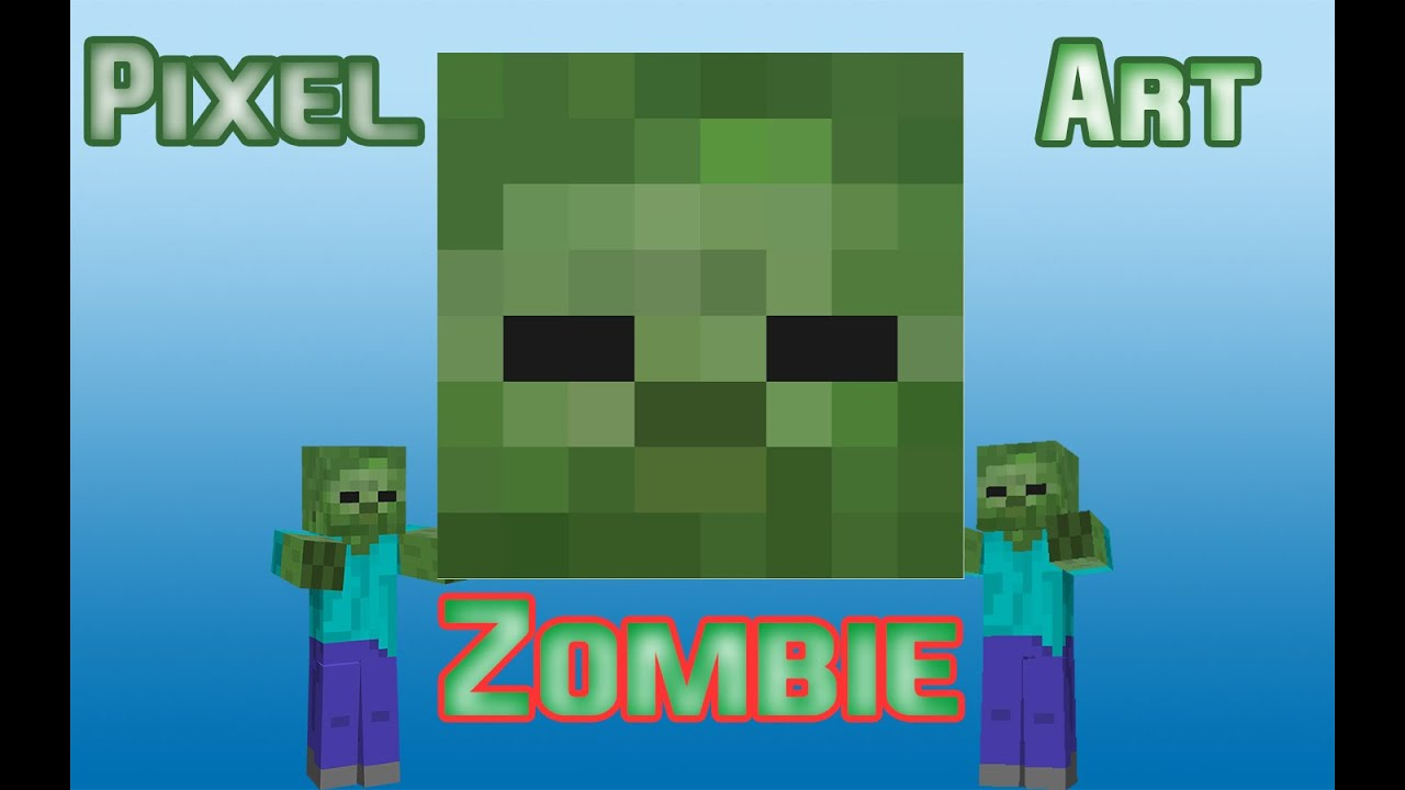 PIXEL ART: ZOMBIE #4 - YouTube