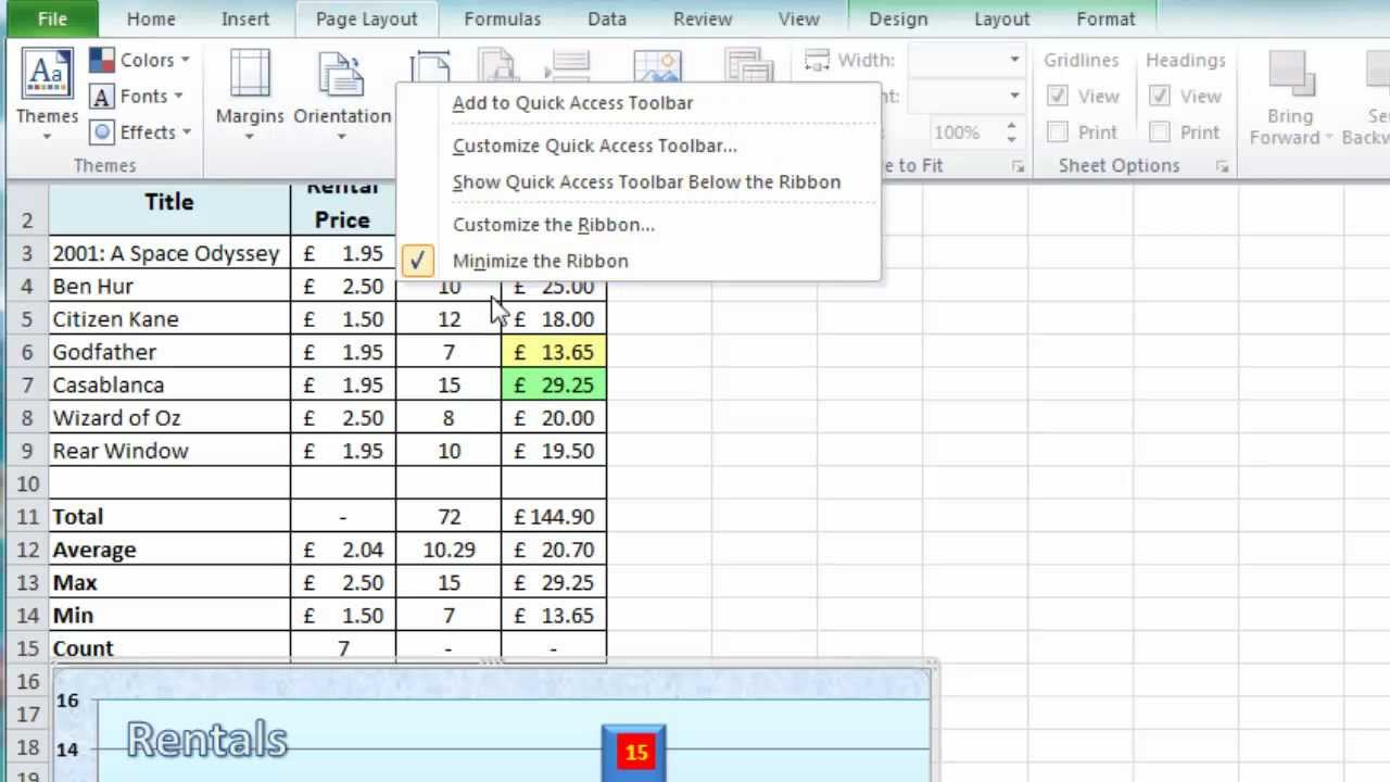 Excel Tip 009 Customise Excel Show Hide W Ksheet Objects