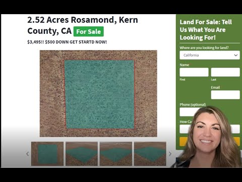 2.52 Acres Rosamond Property in Kern County, CA