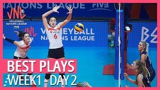 Best Volleyball Plays | Week1 - Day2 | Women's VNL 2019