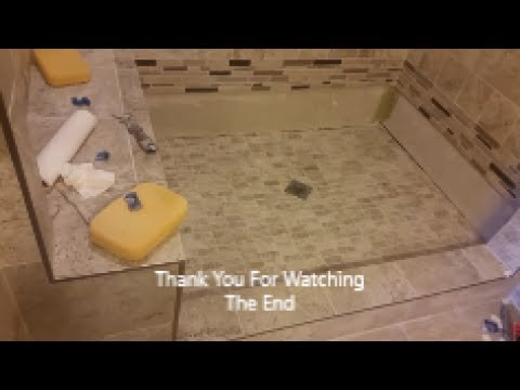 How To Grout Shower Floor Step By Mosaic Tile