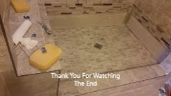 How To Grout Shower Floor -  Step By Step - Grout Mosaic Tile