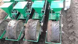 Посев гибридной моркови, фракция 1,6 1,8 мм, высевающим аппаратом ВАС 52 10 3, с глубиной ячейки 2 м(Посев гибридной моркови, фракция 1,6 1,8 мм, высевающим аппаратом ВАС 52 10 3, с глубиной ячейки 2 м., 2016-02-24T18:34:22.000Z)