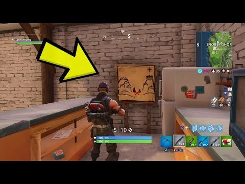 FOLLOW THE TREASURE MAP IN SNOBBY SHORES GUIDE - FORTNITE