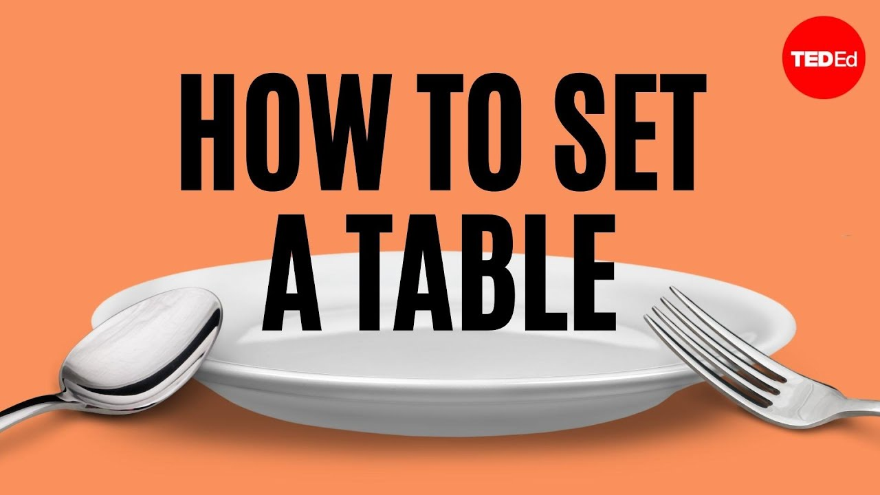 How to set the table anna post youtube Simple table setting for lunch
