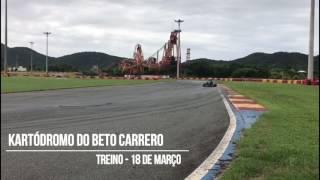 Treino no Kartódromo do Beto Carrero