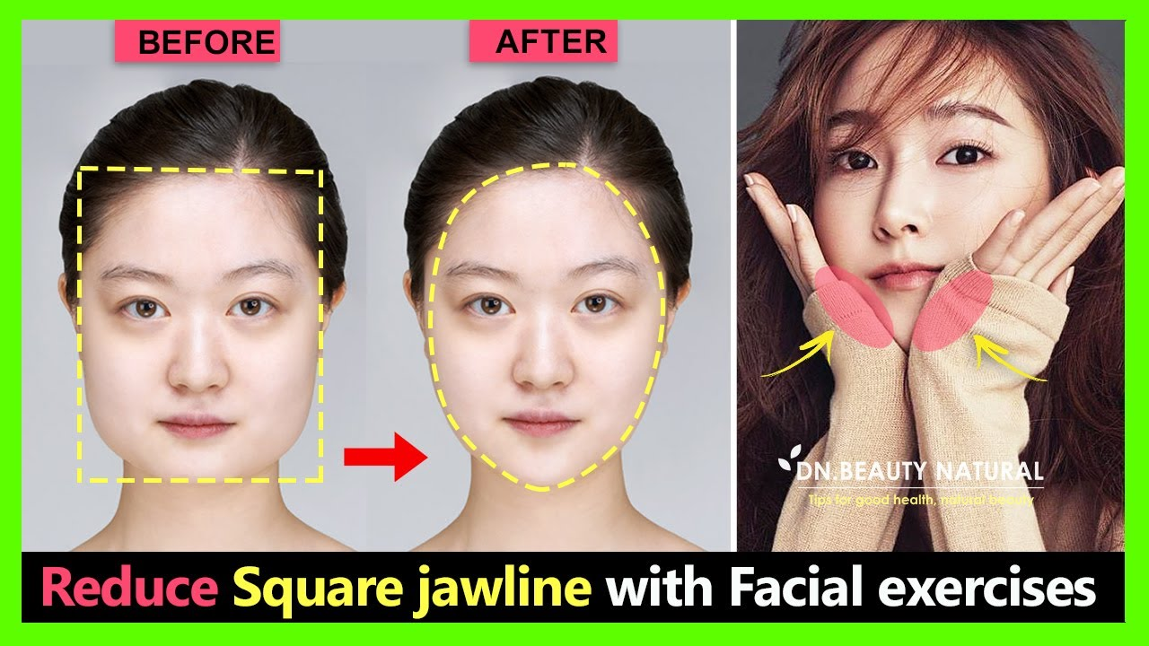 How to change Square face shape and reduce Square jaw naturally | Square jaw reduction exercise