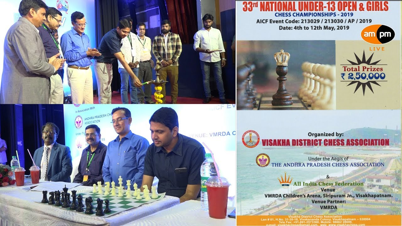 33rd VMRDA National Under 13 Open & Girls Chess Champion Ship Inaugurated  in Visakhapatnam
