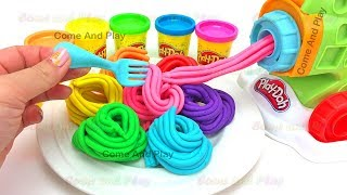 Learn Colors Play Doh Pasta Machine Make Spaghetti Surprise Toys Disney Kinder Superhero M&M Slime