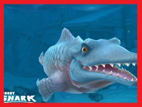 BEST ANDROID GAMES - HUNGRY SHARK EVOLUTION : MOSASAURUS (MR.SNAPPY) EAT & ATTACK !