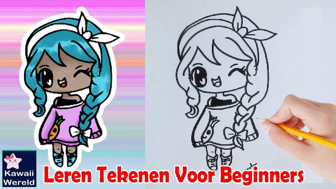 Hoe Teken Je Een Chibi Meisje Stap Voor Stap Leren Tekenen Youtube