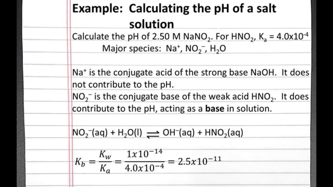 how to work out the ph of a solution