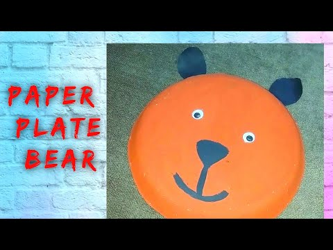 Paper Plate Crafts / How To Make Bear Using Paper Plate /paper Plate Animals / Paper Plate Bear