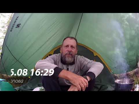 ##4 Шторм, туман и снова через Яголомбу | Дым, пожар | Рыбалка на бутылку | Приключения на байдарке