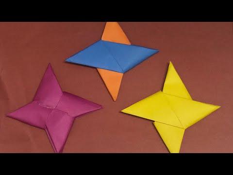 Paper NINJA star for kids, Ninja star spinner, by zinan - 1