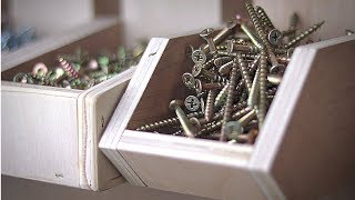 Quick And Easy French Cleat Hardware Bins