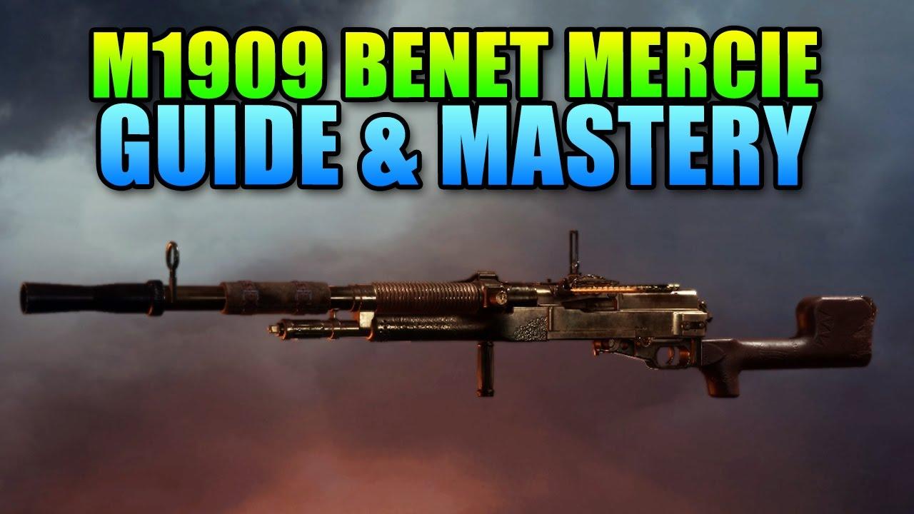 M1909 Benet-Mercie Machine Gun Sniper!   Battlefield 1 Weapon Mastery &  Guide