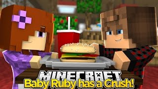 minecraft little carly baby ruby has a tantrum over a boy