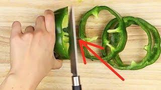 Deshalb solltest du Paprika immer in Ringe schneiden.