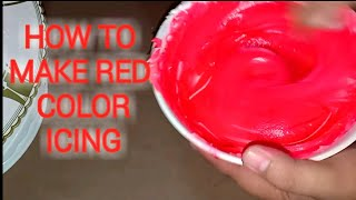 RED COLOR ICING / HOW TO MAKE PERFECT RED COLOR IN BOILED ICING.