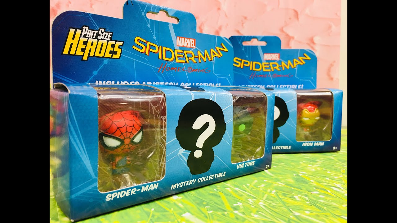 PINT SIZE HEROES MARVEL SPIDER-MAN MYSTERY FIGURE!!