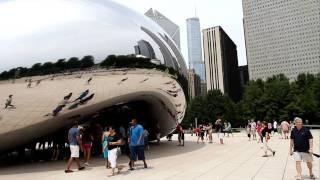 Chicago Millennium Park - amazing bean egg sculpture CLOUD GATE