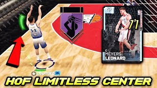 2k gave this 7'1 center a 97 3 POINT and  HALL OF FAME LIMITLESS RANGE in nba 2k19 myteam