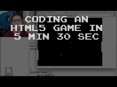 Coding an HTML5 Game in 5 min 30 sec