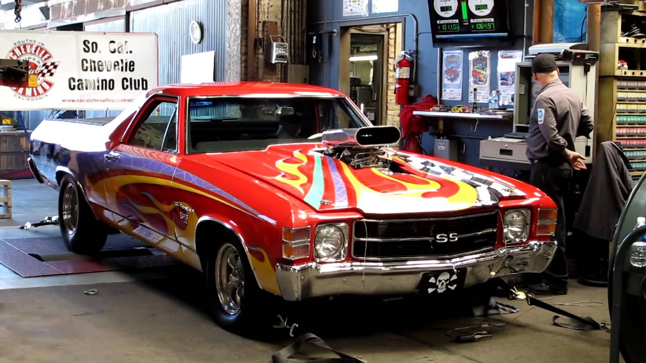 1972 El Camino Supercharged Scccc Dynoday Youtube