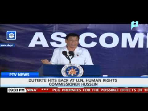 President Duterte hits back at UN Human Rights Commissioner Hussein