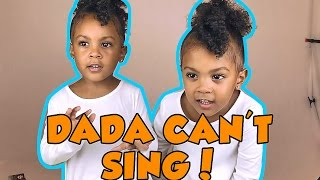 toddlers call dad out on his singing he s bad