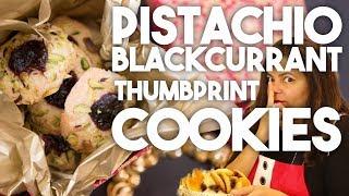 PISTACHIO & BLACKCURRANT Thumbprints | Kin Community Cookie Collab | | Kravings