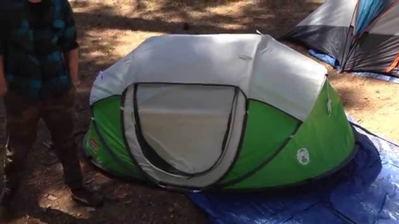 & Popup 2 tent from Coleman - YouTube