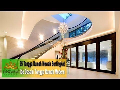 25 tangga rumah mewah bertingkat - ide desain tangga rumah