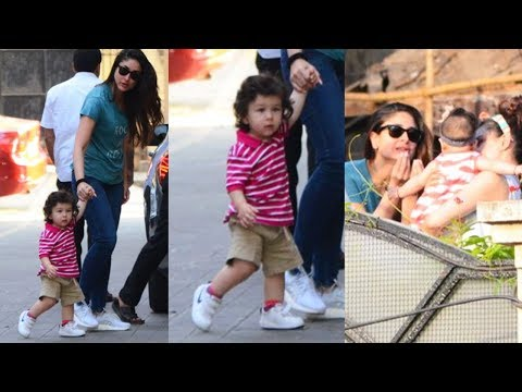 Taimur Ali Khan Cutely Walking With Mom Kareena Kapoor Khan And Plays With Sister Inaaya