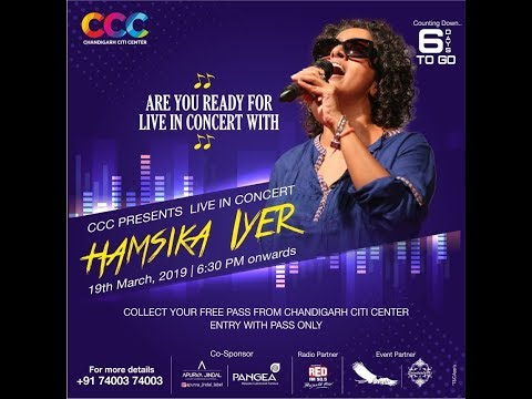 Hamsika Iyer   Playback Singer At Chandigarh Citi Center