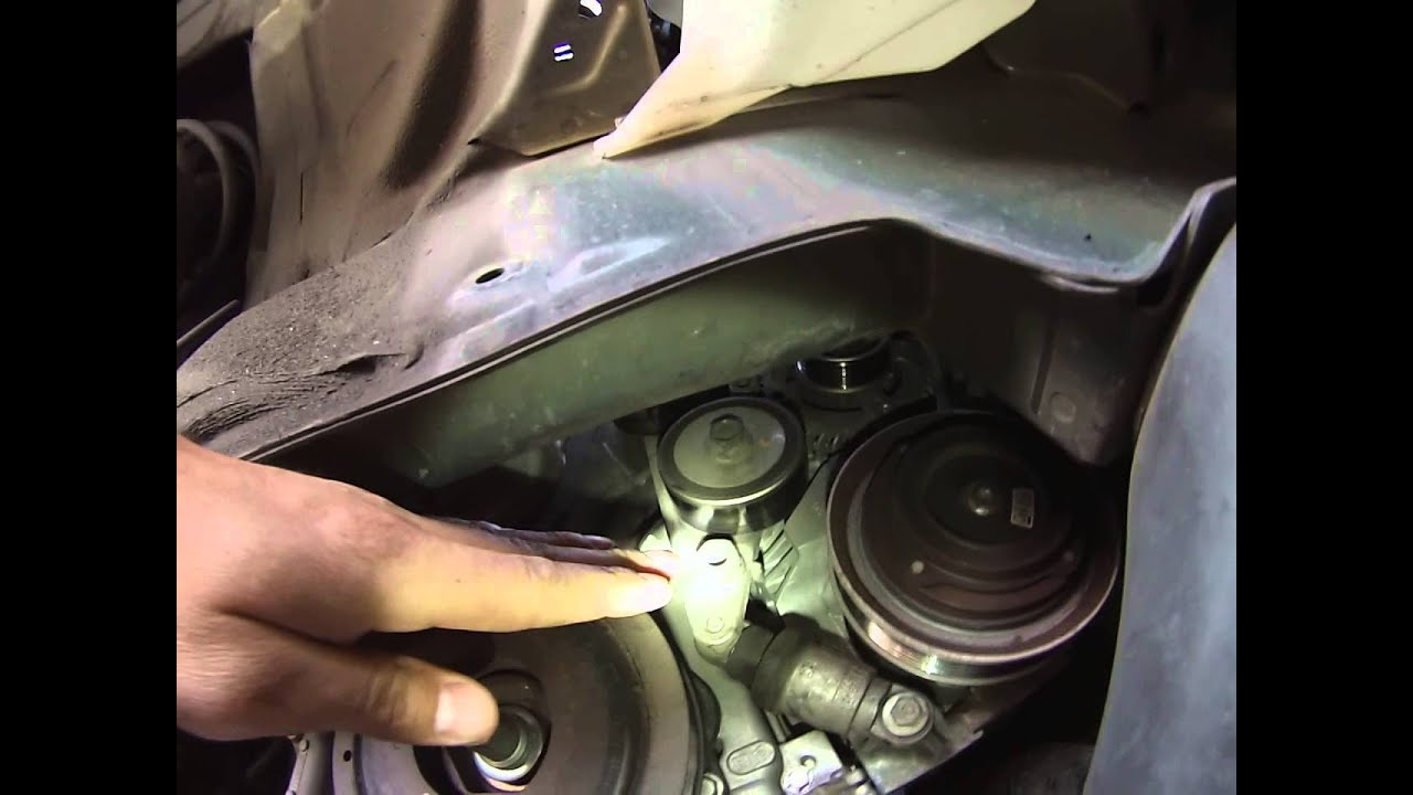 hight resolution of honda odyssey serpentine belt removal