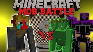 MONKING VS END OGRE & ROBO POUNDER - Minecraft Mob Battles - Mods