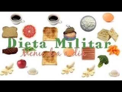 Dieta para bajar de peso militar