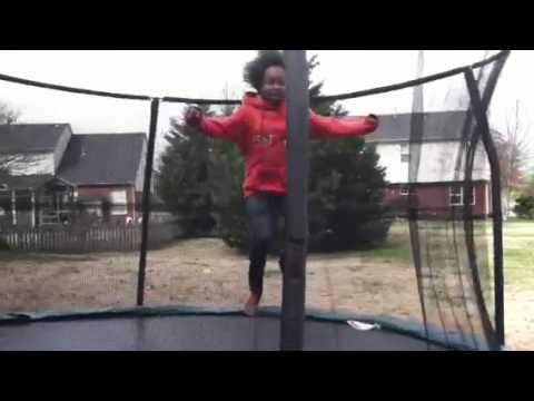 Chase Williamson on trampoline!