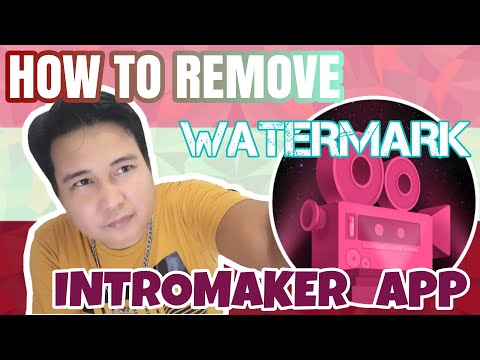 how to remove watermark in in intro maker