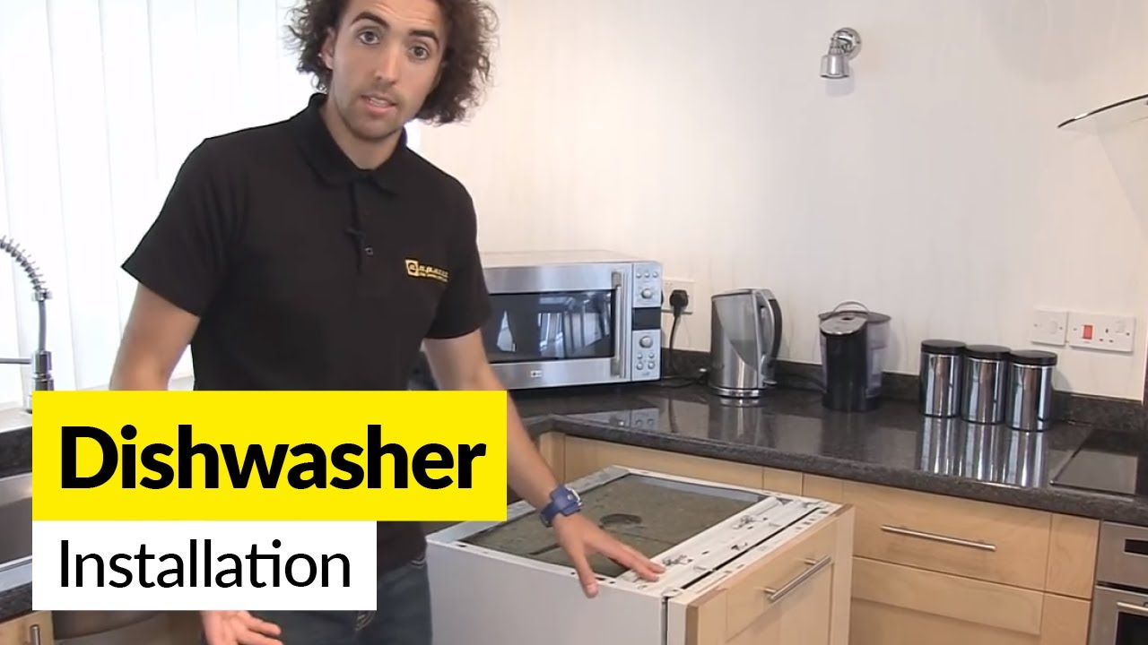 how to install a dishwasher youtube. Black Bedroom Furniture Sets. Home Design Ideas